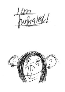 Kuriosis_Zeichnung_Frustrated_Girl_Natascha-Sonnenschein